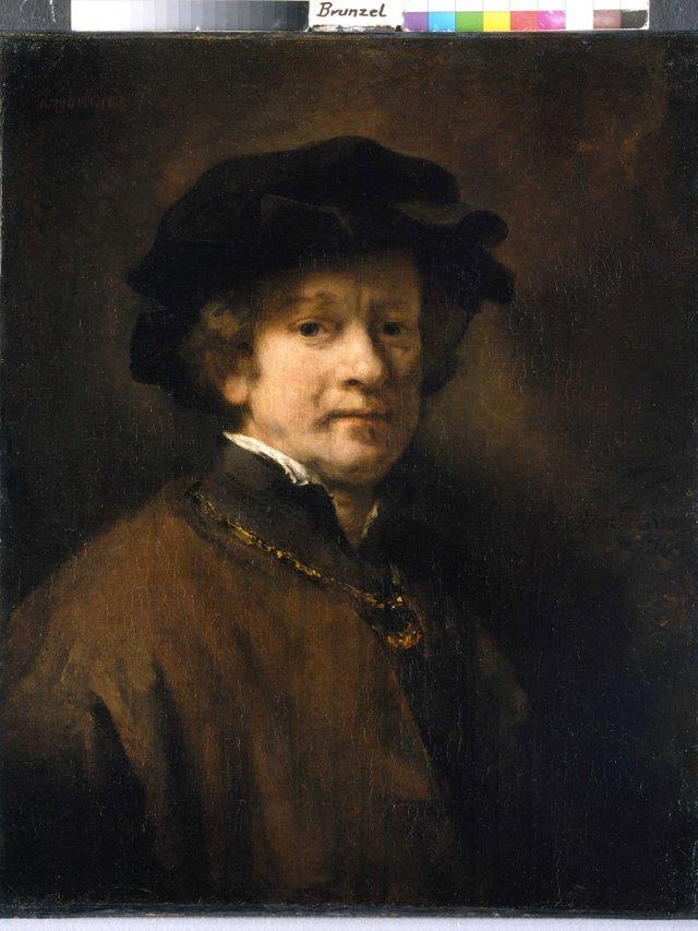 MHK_Rembrandt Harmenszoon van Rijn_Selbstbildnis mit Barett und goldener Kette_Foto Ute Brunzel_GAM10236.jpg