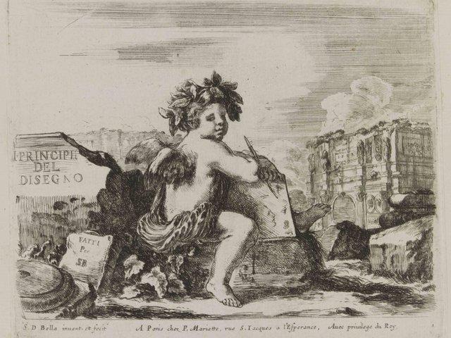 MHK_Stefano della Bella_Genius der Zeichenkunst zwischen antiken Ruinen_um 1643_G42235.jpg