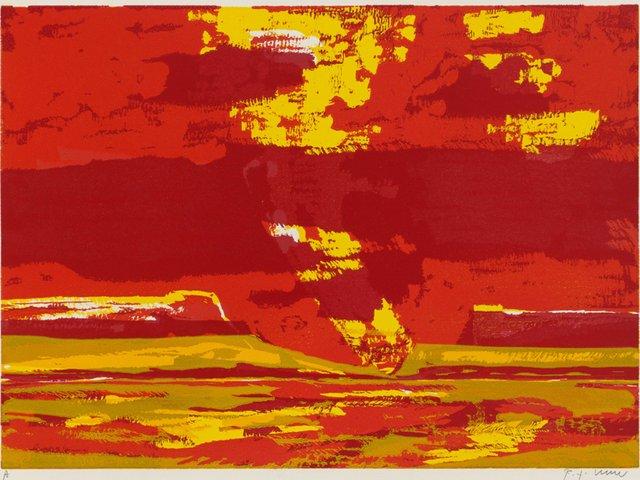 Bernd Zimmer_Namib. Düne II_2003_Farbholzschnitt_VG Bild-Kunst Bonn 2018_WVZH254.jpg