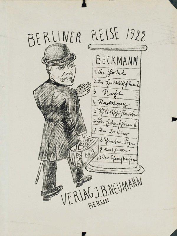MHK_Max Beckmann_1884-1950_Berliner Reise (Mappendeckel) © Ute Brunzel Graphische Sammlung Kassel.jpg