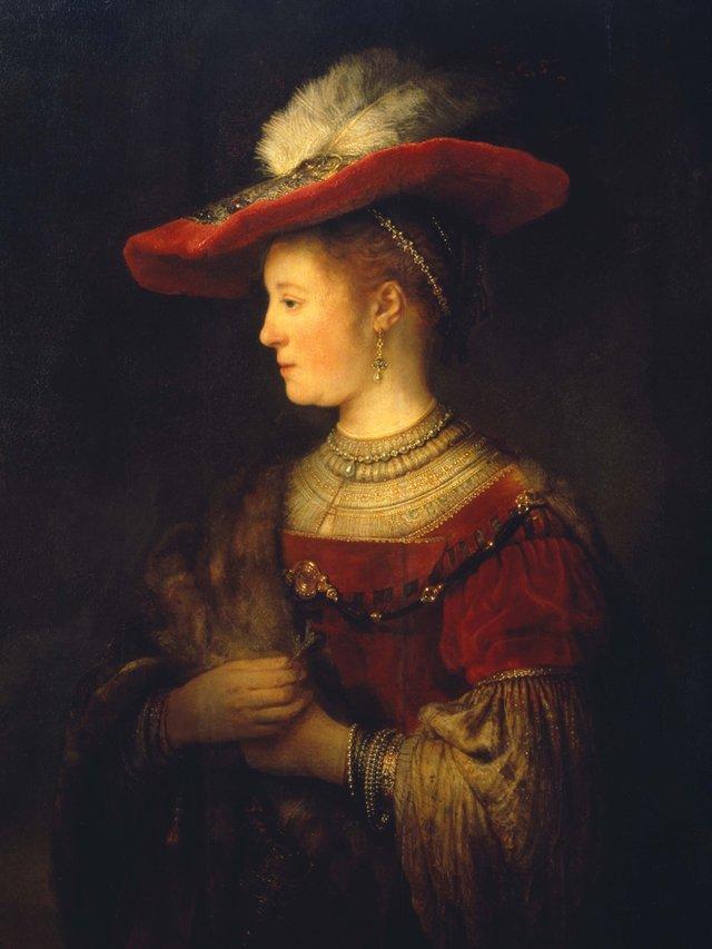 MHK_Rembrandt van Rijn_Saskia Uylenburgh im Profil_1642_Gemäldegalerie Alte Meister_Foto Ute Brunzel_klein.jpg