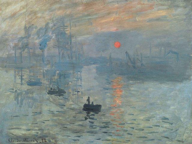 Claude Monet: Impression, soleil levant, 1872