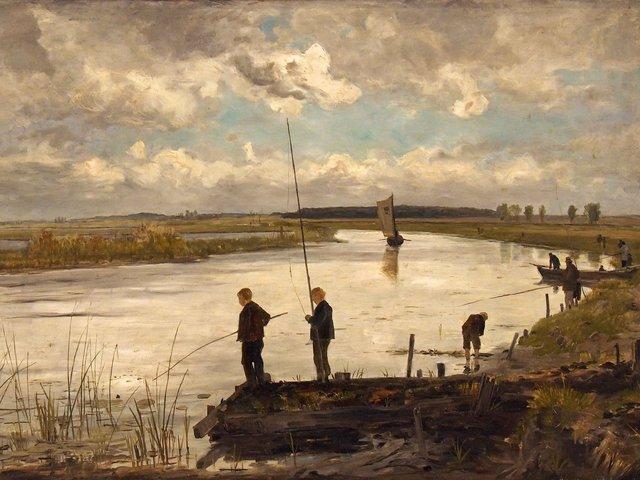 Paul Baum - Angler an der Warnow (1886)